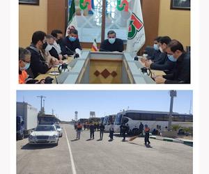 ۲ هزار و ۲۰۰ دستگاه ناوگان اتوبوسی در مرزهای مهران و شلمچه مستقر شدند